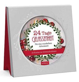 24 Tage Gelassenheit für eine wunderbare Adventszeit. 24 Karten im Schmuckrahmen