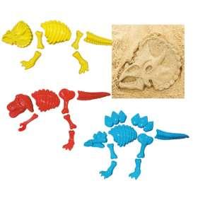 3er-Set Dino-Skelett-Sandformen