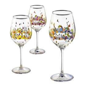 3er-Set Weingläser Platin, Weißwein