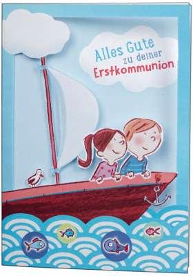 Alles Gute zu deiner Erstkommunion. Glückwunschkarte