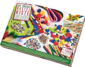 Bastel-Kiste, gemischtes Bastelsortiment, ca. 1.300 Teile