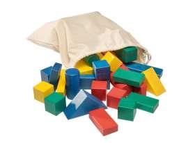 Bausteine im Sack, farbig