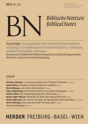 Biblische Notizen - 151/2011