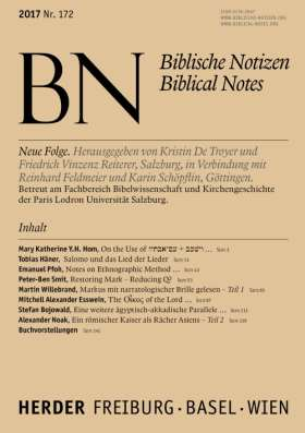 Biblische Notizen - 172/2017