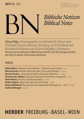 Biblische Notizen - 173/2017