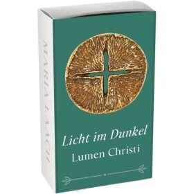 Bronzekreuz Licht im Dunkel. Lumen Christi