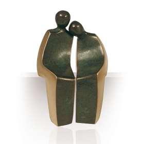 Bronzeplastik Trautes Paar