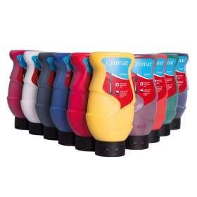 Cromar-Farben, 10x500 ml, farbig sortiert
