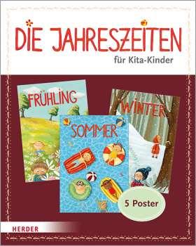 Die Jahreszeiten für Kita-Kinder. 5 Poster