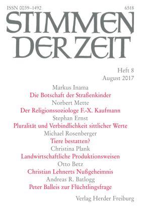 Die religiöse Brisanz des Christentums. Das religionssoziologische OEuvre von Franz-Xaver Kaufmann