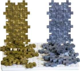 Doppel-Plus Bausteine Mini gold und silber, 2000 tlg.