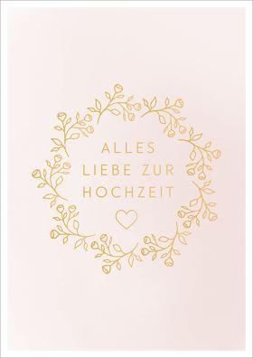 """Doppelkarte zur Hochzeit """"Alles Liebe zur Hochzeit"""""""