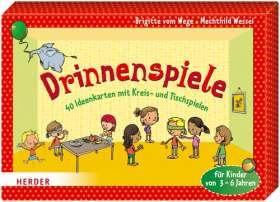 Drinnenspiele. 40 Ideenkarten mit Kreis- und Tischspielen für Kinder von 3 - 6 Jahren