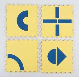 EDUPLAY Legematten/Puzzlematten, je 50x50 cm, 12-teilig