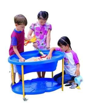 EDUPLAY Mobiler Sand- und Wassertisch, blau