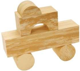 EDUPLAY Soft Wood Bausteine 56-tlg