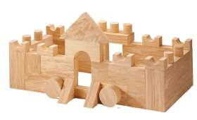EDUPLAY Soft Wood Bausteine, 68-tlg