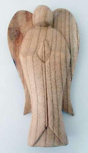 Engel stehend aus Soarholz