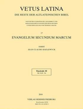 Evangelium secundum Marcum. Fascicule 10: Mc 14,44 - fin