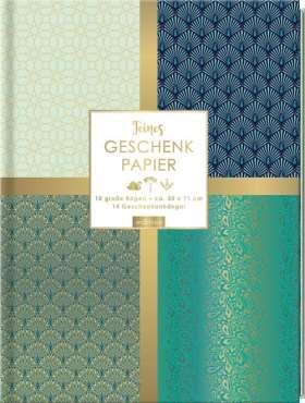 Feines Geschenkpapier, blau. Wünsche-Edition