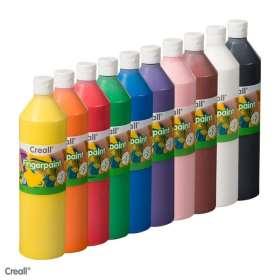 Fingerfarben-Set mit 10 Farben (Creall), 10 x 750 ml