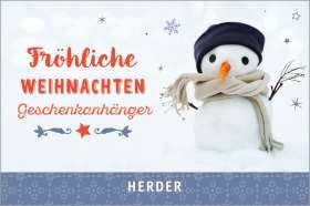 Fröhliche Weihnachten (Geschenkanhänger)
