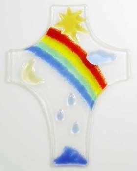 Glaskreuz Regenbogen/Sonne, Nr. 4546