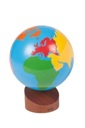 Globus mit Erdteilen