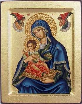 Griechische Ikone. Gottesmutter mit Kind Immerwährende Hilfe