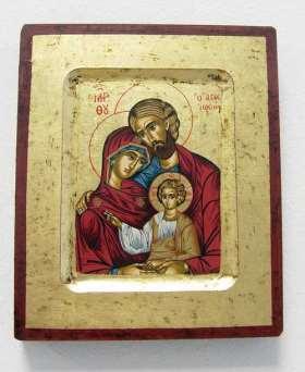 Griechische Ikone. Heilige Familie