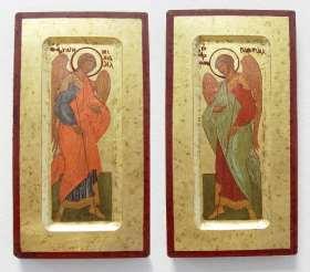 Griechische Ikone. Heiliger Gabriel / Michael (2er-Set)