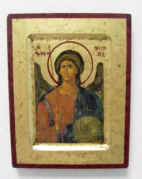 Griechische Ikone. Heiliger Michael