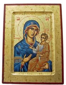 Griechische Ikone. Madonna mit Kind