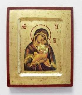 Griechische Ikone. Mutter Gottes von der Freude des Jesukindes