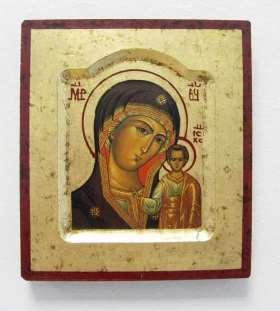 Griechische Ikone. Mutter Gottes von Kazan
