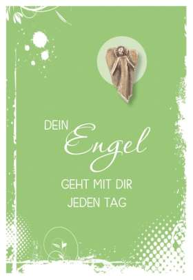 Grußkarte mit Engel