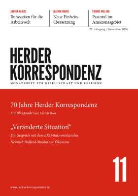 Herder Korrespondenz - 11/2016