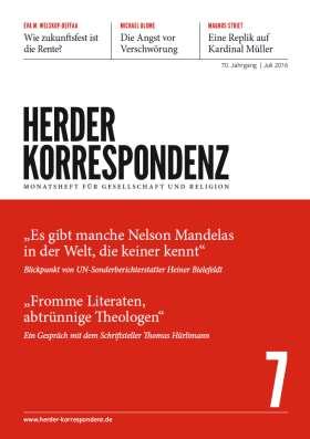 Herder Korrespondenz - 7/2016
