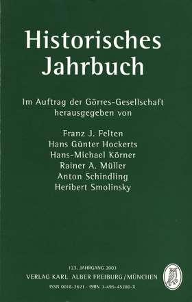 Historisches Jahrbuch. 123. Jahrgang 2003