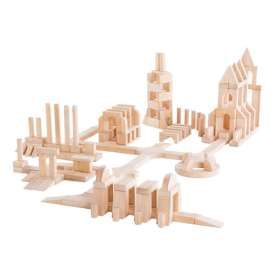 Holz-Bausteine, Set E, 218 Teile