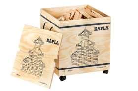 KAPLA 1000 Bausteine in Holzkiste auf Rädern und mit 2 Anleitungsheften