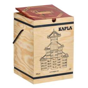 KAPLA 280 Bausteine im Holzkasten und mit einem Kunstbuch