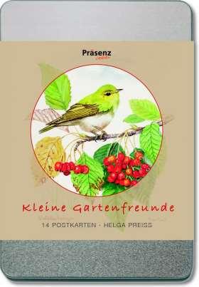 Kleine Gartenfreunde. 14 Postkarten von Helga Preiß