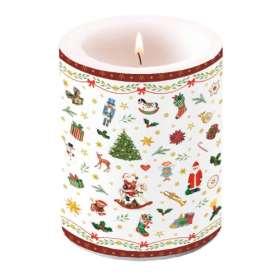 Lampionkerze Weihnachtszeit