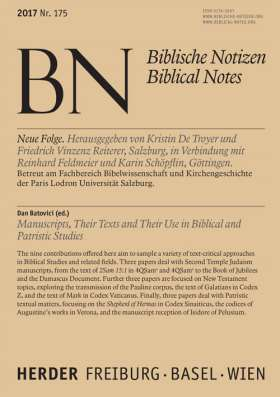 Manuscripts, Their Texts and Their Use in Biblical and Patristic Studies. Band 175
