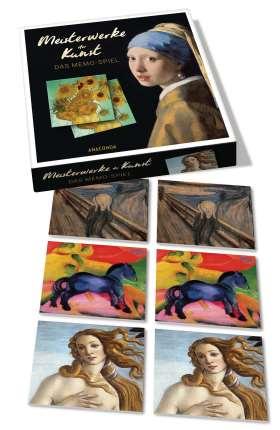 Meisterwerke der Kunst . Das Memo-Spiel