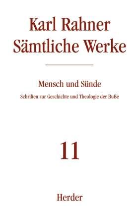 Mensch und Sünde. Schriften zur Geschichte und Theologie der Buße