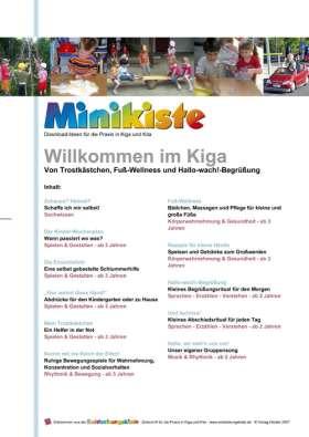 Minikiste: Willkommen im Kindergarten