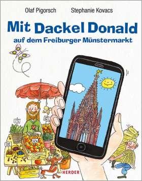Mit Dackel Donald auf dem Freiburger Münstermarkt