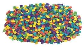 Mosaiksteine aus Holz - 1000 Stück